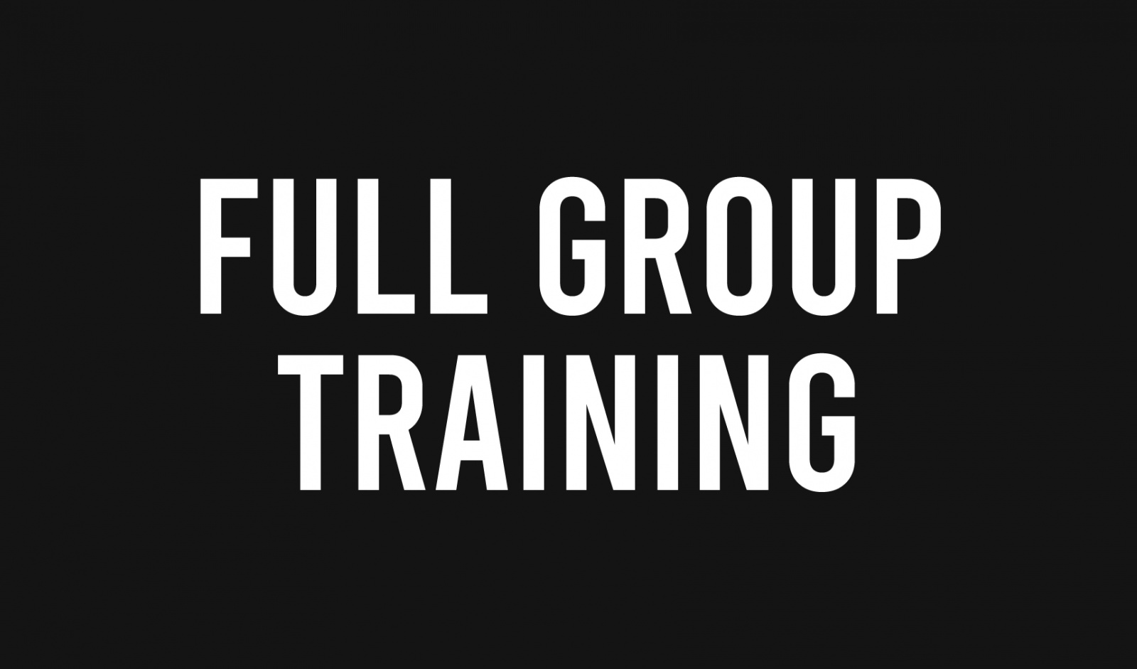 full group training
